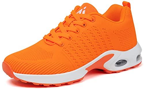 Mishansha Chaussure de Running Femme Sport Baskets Jogging Chaussures pour Filles Course Antidérapant Outdoor Fitness Gym Sneakers Respirante Orange 37 EU prix et achat
