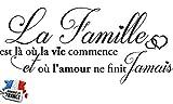 Sticker : La Famille c'est là où la vie commence