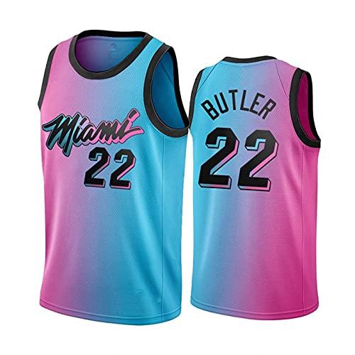 TINKOU Maillot NBA sans Manches, Maillot de Basket-Ball de Sport Miami Heat # 22, Gilet de Collection de Fans pour Hommes et Femmes