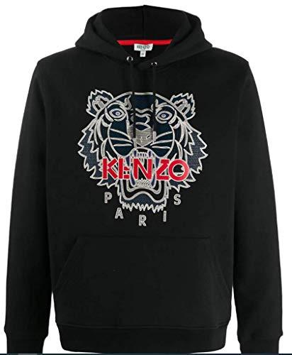 KENZO Sweat Homme Tiger Noir à Capuche 100% Coton (M)