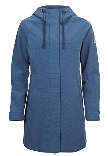 Elkline Breatheesay Manteau de Pluie Femme, Taille:46, Couleur:bleu stellaire