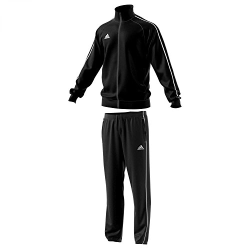 adidas Survêtement en polyester Core 18 noir/blanc XXXL