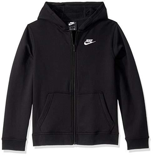 Nike, Sportswear Club, Sweat avec Zip Noir / Noir / Blanc m