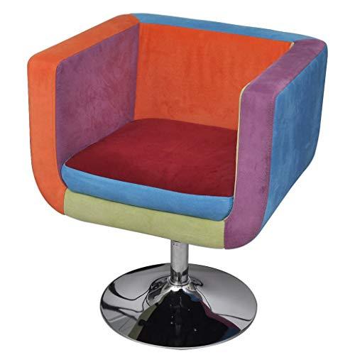 vidaXL Fauteuil Design Club Design Patchwork Multi Couleur...