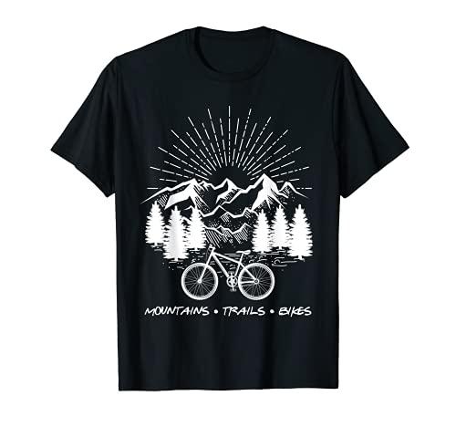 Vélo de Montagne Amusant Mountains Trails Bikes T-Shirt