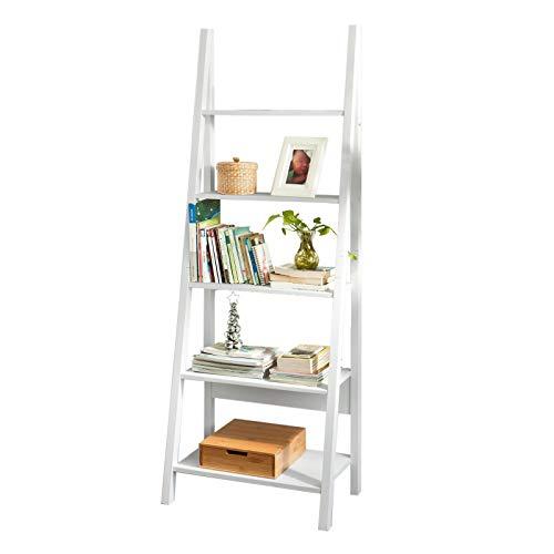SoBuy® FRG61-W Bibliothèque, Étagère Style échelle, Étagère échelle, 5 étages -Blanc