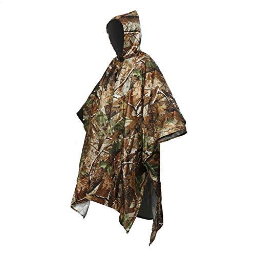 MSYL Multifonctionnel One Piece Rain Coat Imperméable Poncho Cape Tarp Camping Randonnée Environnement Rain Coat Camouflage