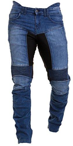 Qaswa Homme Moto Jeans Motards Pantalon Renforcée Aramide Protection Motorcycle Pants