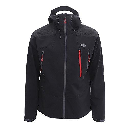 Millet - K Shield Hoodie M - Veste Softshell Homme - Déperlante et Respirante - Alpinisme, Randonnée - Noir
