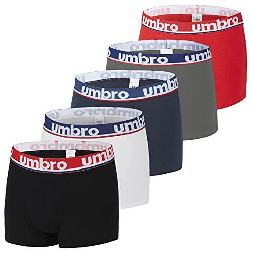 Umbro Boxer UMB/1/BCX5 - Lot de 5 - Caleçon Boxeur - Homme - Multicolore (CLASS5) - M