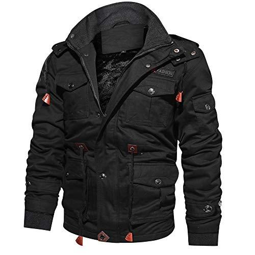DAY8 Manteau Homme Hiver Chaud Épais Vêtement Homme Pas Cher a la Mode Pull Veste de Moto...