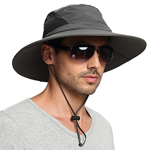 EINSKEY Chapeau Soleil Homme Femme Ete Anti UV Outdoor Randonnée Bucket Hat Pliable Étanche Chapeau de Voyage Safari Jardinier Casquette