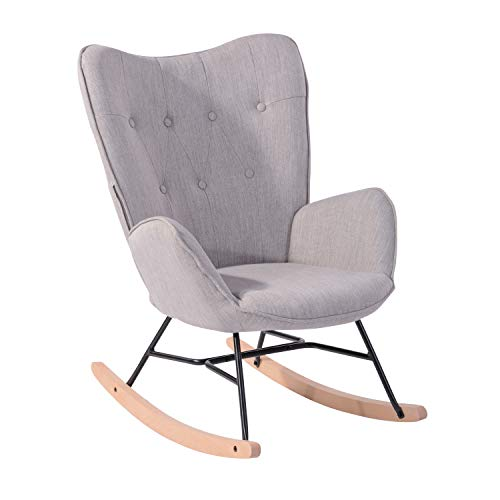 MEUBLE COSY Fauteuil à bascule style Rocking chair - Style...