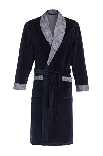 Robe de Chambre pour Hommes RE-103 Velours - Bleu foncé - L