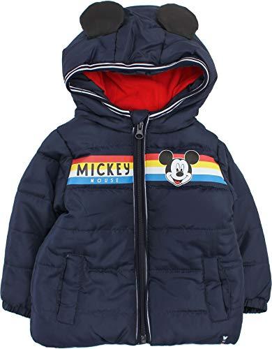 Disney Mickey Mouse Veste d'hiver pour bébé garçon Motif smiles - Bleu - 24 mois