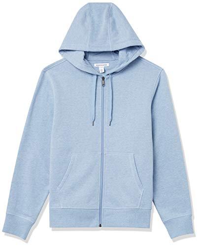 Amazon Essentials Big & Tall Full-Zip Hooded Fleece Sweatshirt Sweat à Capuche, Bleu Clair Chiné, L