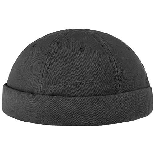 Stetson Bonnet Ocala Docker en Coton Fin Protection Anti UV (XL/60-61 - Noir)