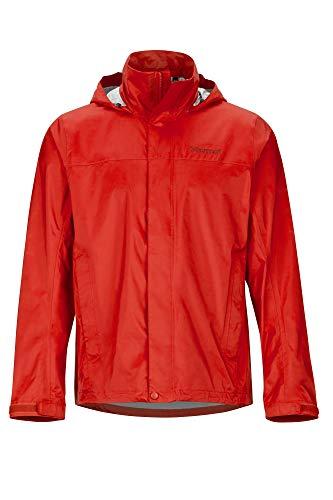 Marmot Precip Eco Jacket Veste Imperméable, Veste de pluie Homme, Hardshell, Coupe Vent, respirant Homme Victory Red FR: L (Taille Fabricant: L)