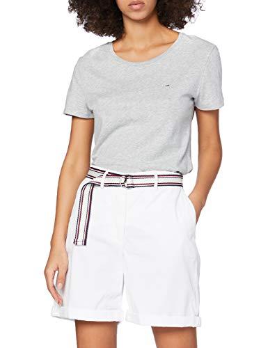 Tommy Hilfiger GMD Cotton Tencel Slim Bermuda Jean, Blanc (Classic White Yaf), 36 Femme