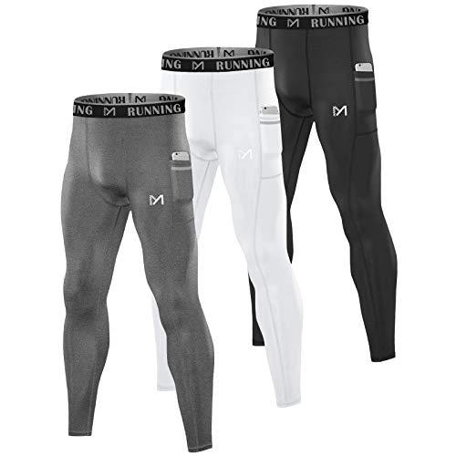 MEETYOO Legging Homme, Collant Running Sport Pantalon Compression Respirant Base Layer pour...
