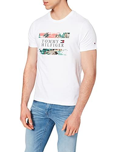 Tommy Hilfiger Hawaiian Flag Tee T-Shirt, Blanc, M Homme