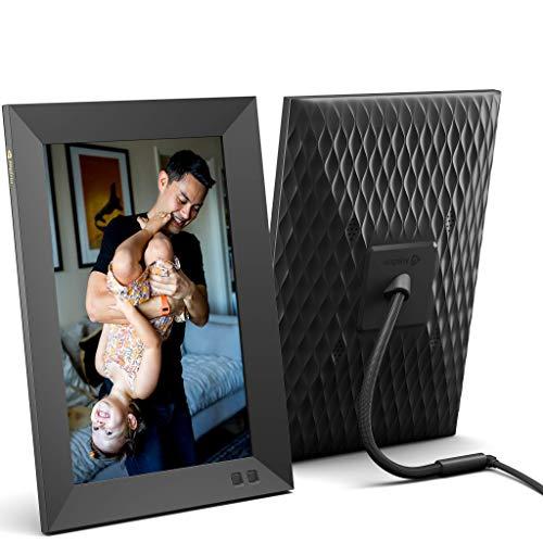 Cadre Photo numérique Intelligent 10,1 Pouces, partagez instantanément des Clips vidéo et Photos par e-Mail ou Via Application