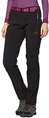 Tofern Femme Pantalon Softshell Ultra Thermique Étanche Hiver Automne Coupe-Vent Résistant...