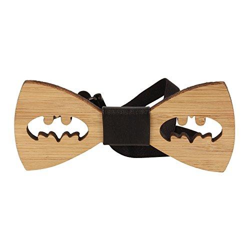 VIKINGS Noeud Papillon en bois Batman Woody