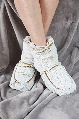 Warmies® Bottes de bien-être entièrement chauffantes parfumées à la lavande française – Beige guimauve