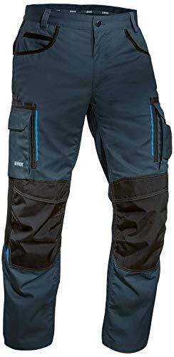 Uvex Tune Up Pantalon de Travail Homme - Pantalon Cargo - avec Poches Pratiques et Poches Rembourrées au Niveau du Genou : Chantier – Carreleur – Menuisier – Electricien - Plombier - Peintre,Bleu,46