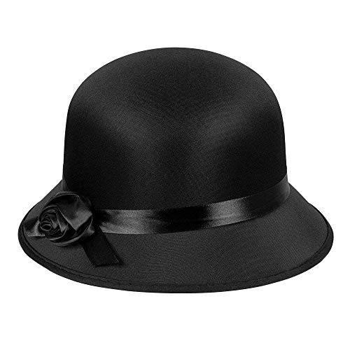 Boland 04309 – Chapeau Charleston noir pour femme années 20 chapeau pour femme, Ascot, Adel, Gatsby, carnaval, Halloween, fête à thème, déguisement, théâtre