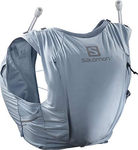 Salomon Womens Sense Pro 10 Set Running Hydration Vest, Ashley Blue/Ebony, Large