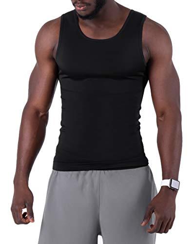 T Shirt Compression Homme - T Shirt Homme Correcteur de Posture Effet Gaine Ventre Plat- Tee...