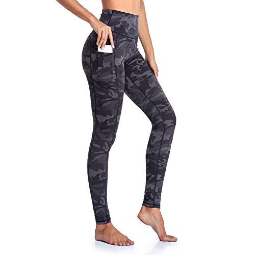 Gimdumasa Leggings de Sport Femmes Pantalon de Yoga Leggins avec Poches Yoga Fitness Gym...