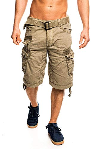 Geographical Norway People Short cargo pour homme - Marron - XX-Large