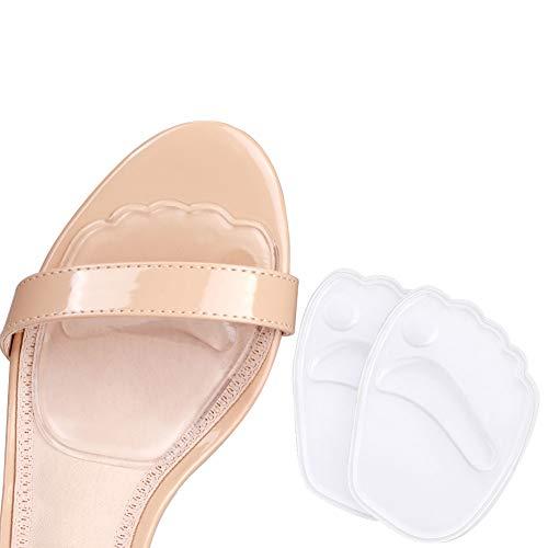 Demi Semelle Silicone Avant Pied, Auto-adhésif Semelles Chaussures Trop Grandes, 2 PCS Demi...