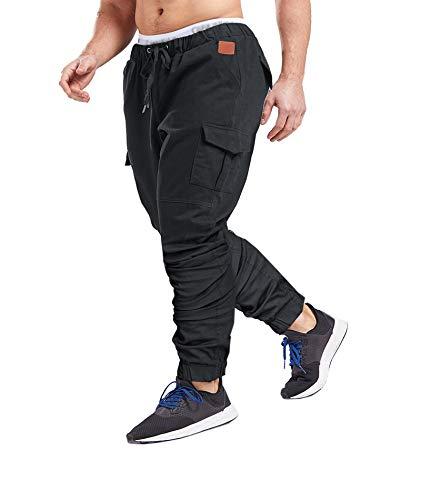 SOMTHRON Homme Ceinture élastique à Long Coton Jogging Pantalons de survêtement Plus la...