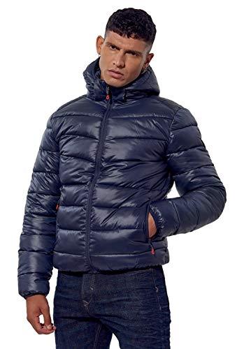 Kaporal - Doudoune régular Homme avec Capuche en 100% Polyester recyclé - Bilor - Homme - L - Bleu