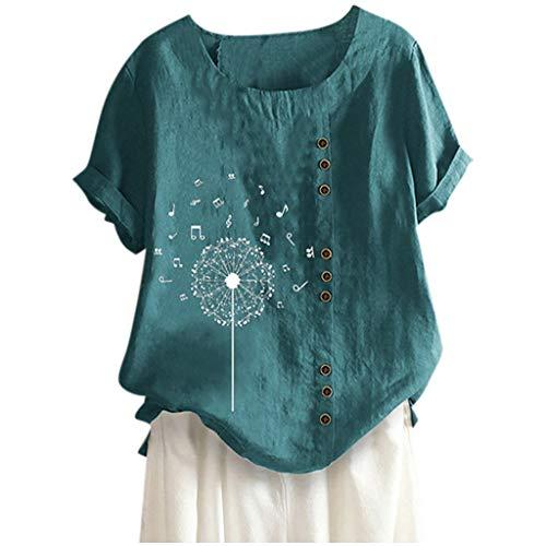 ELECTRI T Shirt Femme Col Rond Mode Casual Coloré LèVres Imprimer Manches Courtes T-Shirt...