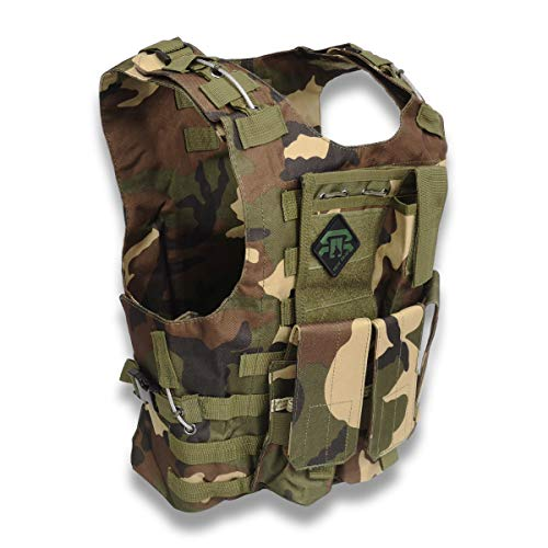 REX RAW ® - Gilet de Combat Tactique Type Militaire - 3 Eléments système Molle Inclus +...