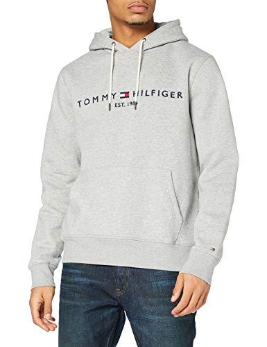 Tommy Hilfiger Tommy Logo Hoody Sweat-Shirt, Gris (Cloud Htr 501), Medium Homme