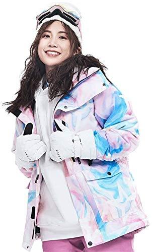 LSZ Veste de Ski imperméable Veste de Ski imperméable Femmes Colorful Veste Snowboard...