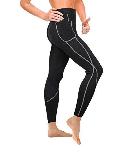 Junlan Femme Leggings Pantalon de Sudation Sauna Minceur Hot Shapers Sport Amincissant Gaine...
