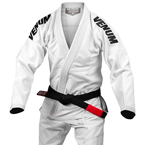 Venum Contender Evo Kimono JJB Mixte Adulte, Blanc, FR : XXS (Taille Fabricant : A1)