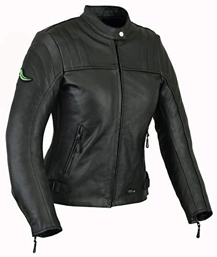 RIDEX LJ6 Veste de moto en cuir pour femme Protection CE Taille 40