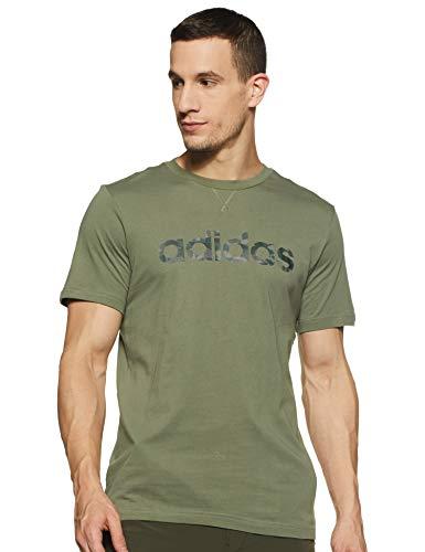 adidas Maillot de Corps pour Homme E Camo Lin Tee XL Legacy Green/Black/Legend Ivy/Pantone