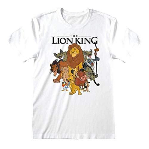 Disney T-Shirt à Manches Longues pour Hommes du Roi Lion, Blanc: X-Large prix et achat
