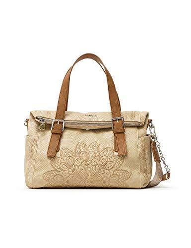 Desigual PU Hand Bag, Sac à Main. Femme, Marron, Taille Unique