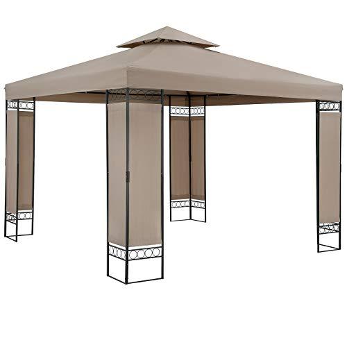 Casaria Tonnelle de Jardin Lorca 3x3 m Taupe Tente de réception...