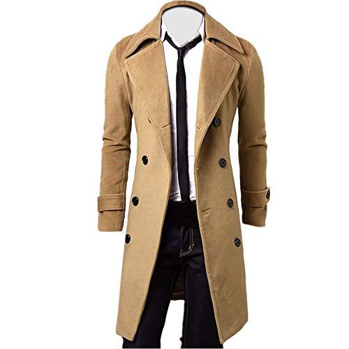 Homme Hiver Manteau Trench-Coat à Manches Longues Double Boutonnage Chaud Slim fit Casual...